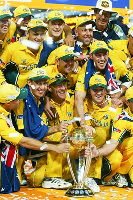 The Australian Team celebrate with the trophy