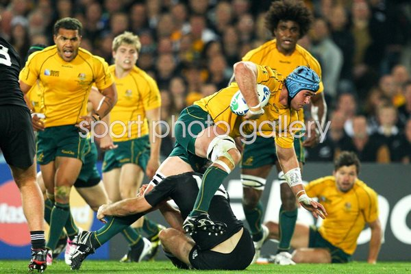 James Horwill Australia v New Zealand World Cup 2011