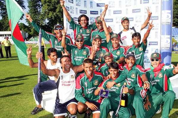 Bangladesh team celebrate