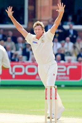 Glenn McGrath celebrates 500th wicket