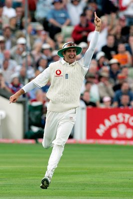 Michael Vaughan celebrates