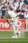 Shane Warne steps onto his stumps  Prints