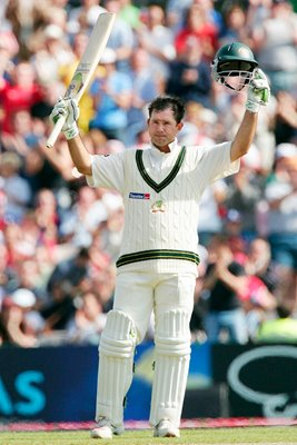 Ricky Ponting reaches his century