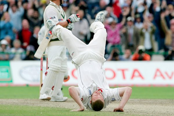 Andrew Flintoff flips out
