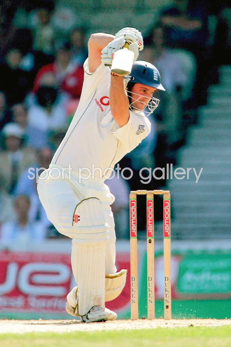 Andrew Strauss in action