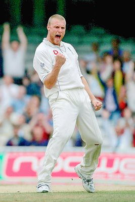 Andrew Flintoff Oval Ashes celebration