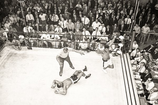 Cassius Clay knocks out Sonny Liston Lewiston 1965