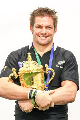 Richie McCaw with the Webb Ellis Cup