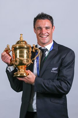 Dan Carter with the Webb Ellis Cup