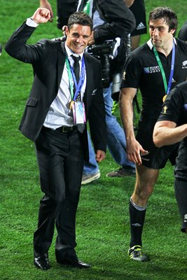 Dan Carter celebrates World Cup win