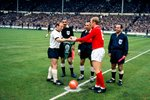 Captains Bobby Moore & Uwe Seeler 1966 World Cup Final Prints