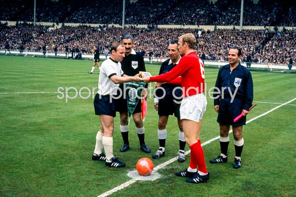 Captains Bobby Moore & Uwe Seeler 1966 World Cup Final
