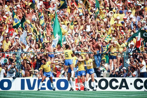 Socrates scores for Brazil World Cup 1982