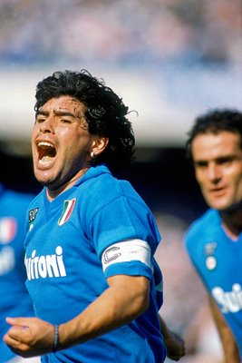 Diego Maradona Napoli celebration