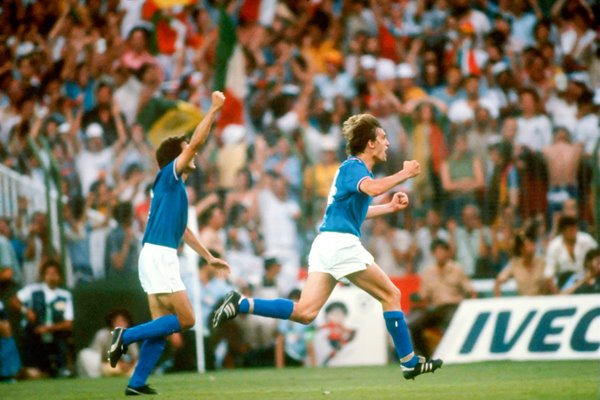 Marco Tardelli celebrates - World Cup Final Spain 1982