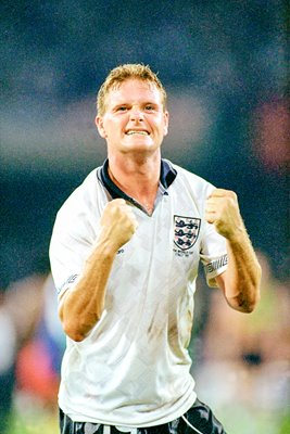 Gazza celebrates World Cup 1990