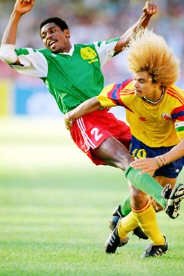 Carlos Valderrama of Colombia