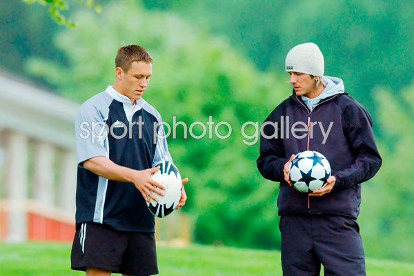 Jonny Wilkinson and David Beckham