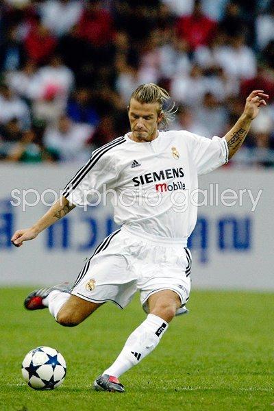 European Clubs Print Football Posters David Beckham