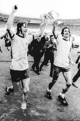 Charlie George and Frank McLintock