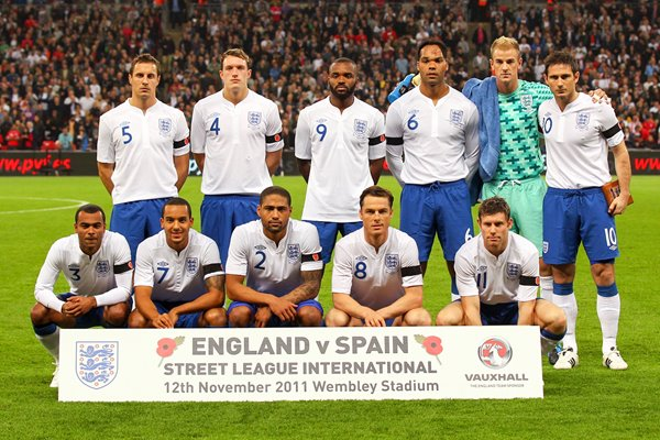 England team v Spain Wembley 2011