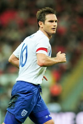 Frank Lampard England captain v Spain 2011