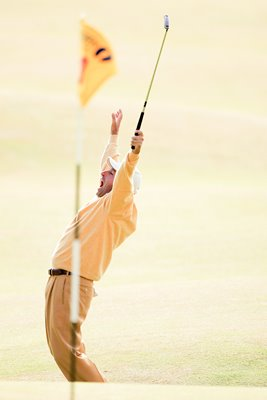 Jose-Maria Olazabal celebrates