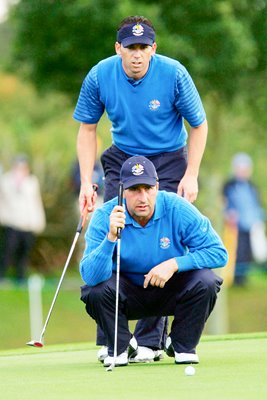 Jose-Maria Olazabal and Sergio Garcia