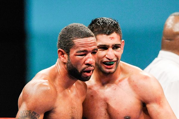 Amir Khan and Lamont Peterson 2011