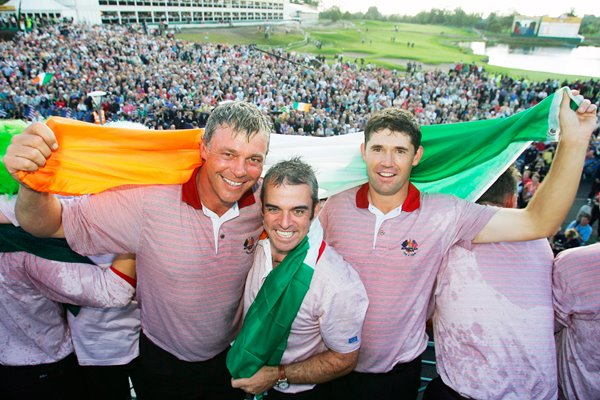 Europe's Ryder Cup players celebrate