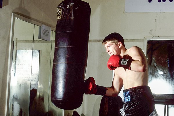 Ricky Hatton training