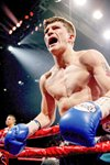Ricky Hatton celebrates  Prints