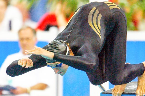 Ian Thorpe dives off the blocks