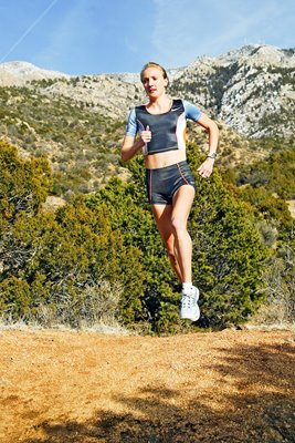 Paula Radcliffe training