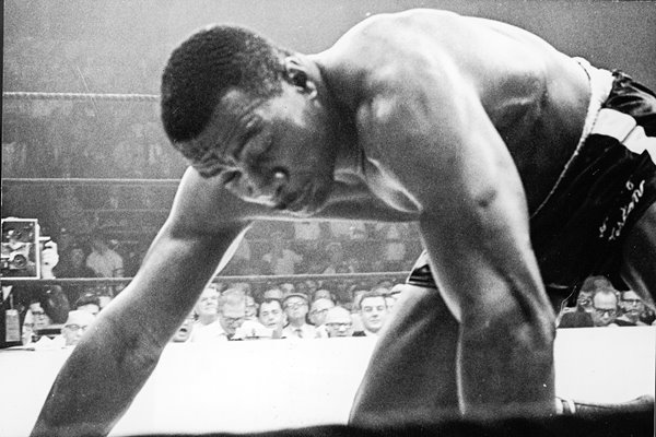 Sonny Liston on the canvas