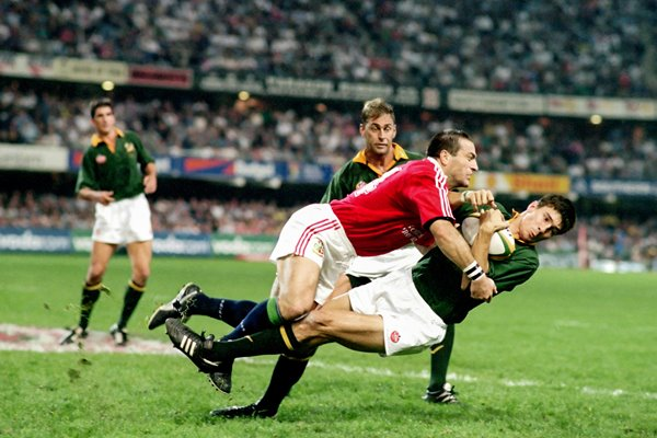 John Bentley British Lions tackles Pieter Rossouw South Africa 1997