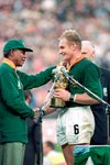 Francois Pienaar & Nelson Mandela Rugby World Cup 1995 Prints