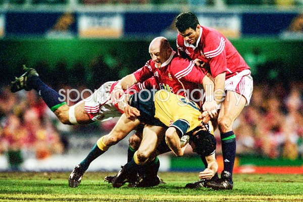 Keith Wood & Martin Johnson British Lions v Australia 2001