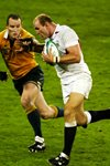 Stirling Mortlock tackles Lawrence Dallaglio Prints