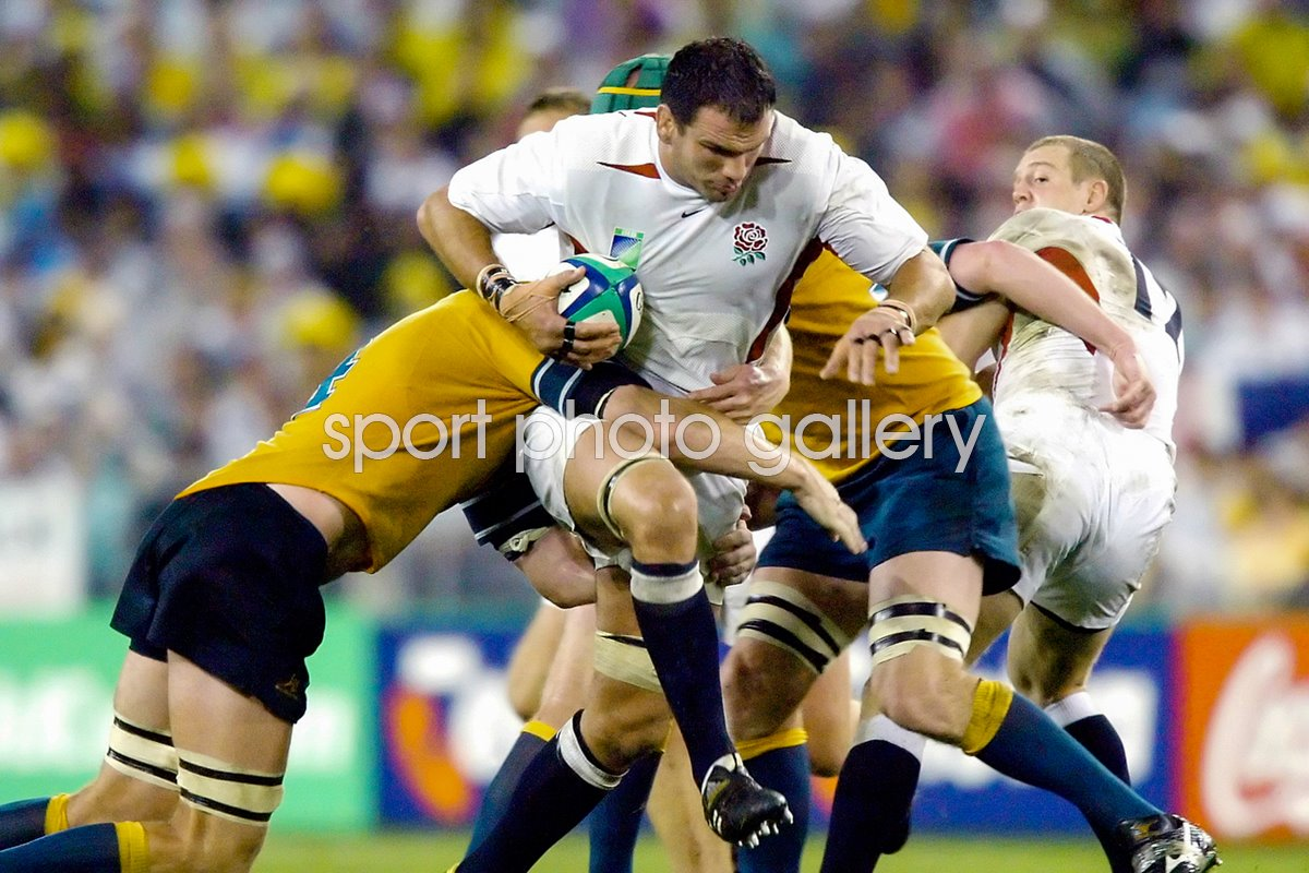 Martin Johnson on the charge