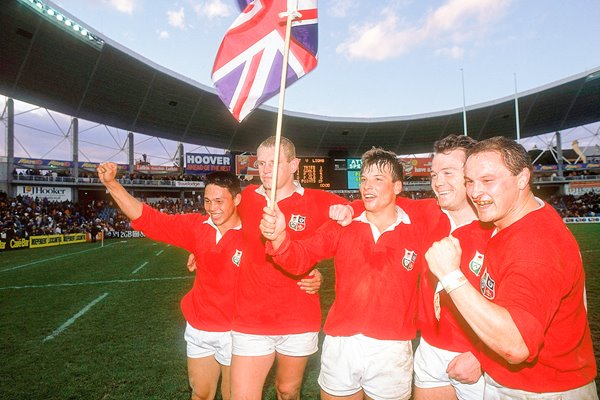 Underwood, Richards, Andrew, Evans, Moore British Lions 1989