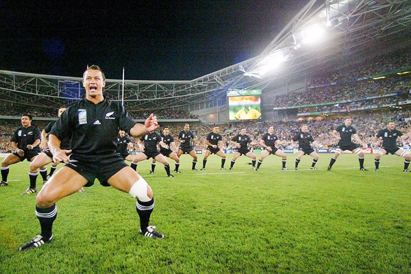 Carlos Spencer leads haka