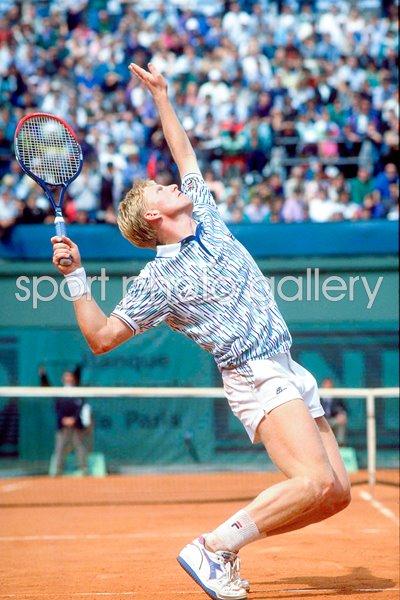French Open Print Tennis Posters Boris Becker