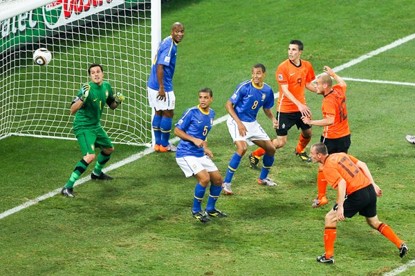 Sneijder's header v Brazil - World Cup 2010 Quarterfinals