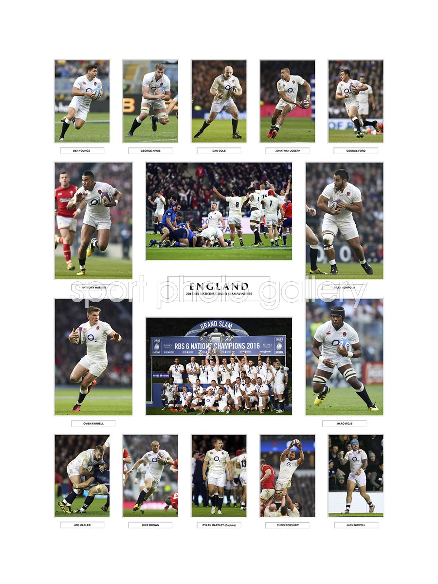 2016 ENGLAND 6 NATIONS GRAND SLAM TEAM SPECIAL