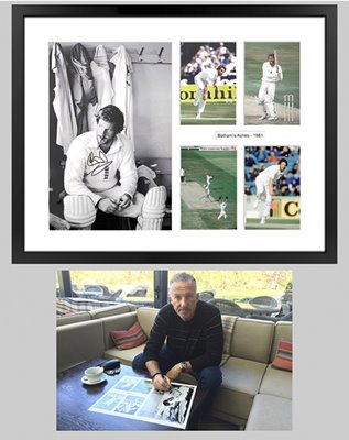 SIGNED IAN BOTHAM ASHES 1981 SPECIAL COLLAGE WAS £249.95 NOW £199.95
