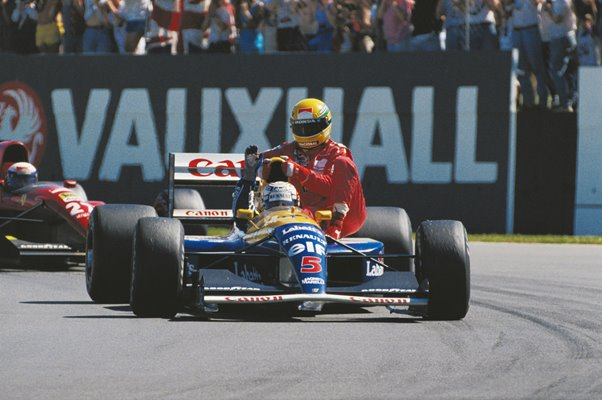 Nigel Mansell and Ayrton Senna