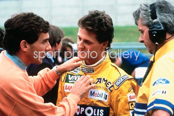 Ayrton Senna & Micheal Schumacher Spa 1992