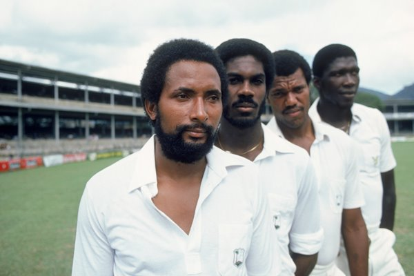 Andy Roberts, Michael Holding, Colin Croft and Joel Garner