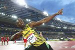 Usain Bolt 4x100m Relay Gold Commonwealth Games 2014 Prints